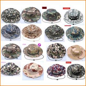 Verano Camo Fisherman Casual Bucket Camping Senderismo viajes pesca alpinismo sombrero sombrilla Bonnie sombrero Para mujeres hombres