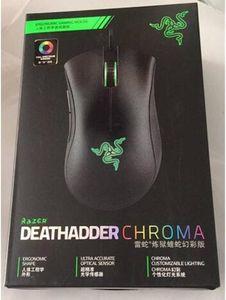 Razer Deathadder Chroma USB Wired Optical Computer Gaming Mouse 10000dpi Optical Sensor Mouse Razer Mouse Deathadder Gaming Mice free DHL