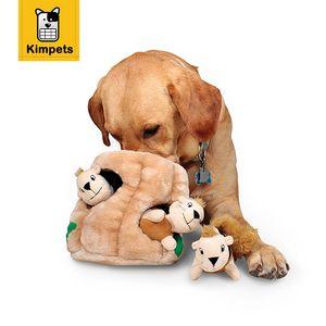 Nuovo design Dobola Hide A Squirrel Dog Toy Peluche Dog Squeaky Toy Pet Puppy Chew Squeaker Peluche Suono Giocattoli interattivi per animali da compagnia