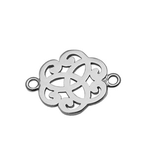 Beadsnice Connecteur pendentif en argent Sterling Connecteur Lien Résultats de bijoux Composant en nuage en forme de nuage pour la fabrication de collier ID 34874