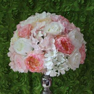 Envío libre del ccsme 40CM guía de caminos de la boda flor de la hortensia de la flor del plomo decoración de la flor bolas centro de mesa