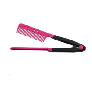 1 Pcs Nouvelle Mode Beauté V Type Redresseur De Cheveux Peigne Anti-statique BRICOLAGE Coiffure Styling Outil Brosse À Cheveux pour les Femmes