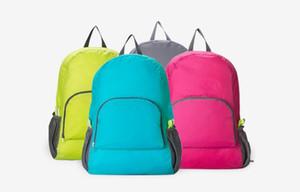 Couleurs d'extérieur Sacs portable voyage de Folding Outdoor Poids Sac à dos Sac de sport d'équitation peau sac de rangement Sac à dos