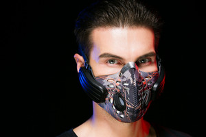 Toptan-Kablosuz Bluetooth Kulaklık Mic ile yüz Maskesi Anti Toz Stereo Müzik Kulaklık IOS Android için Handfree Kulaklık Kemik Iletimi