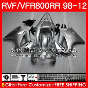 VFR800 para HONDA Interceptor llamas rojas VFR800RR 98 05 06 07 08 09 10 11 90HM19 VFR 800 RR 1998 2005 2007 2007 2007 2009 2010 2011 Carenado