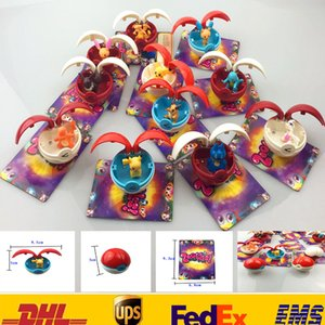 12pcs / set Nouveau Go Ball Jouets Enfants Enfants 5CM Cosplay Bande Dessinée Action Film Jeux de Figurines Jouets En Plastique Avec La Carte Cadeaux De Noël XDG GD-T14
