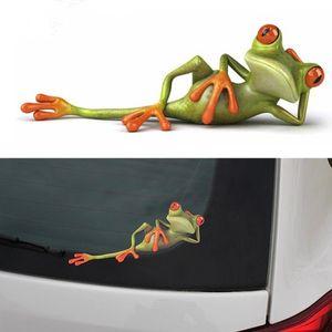 Rãs 3D Engraçado Adesivos de Carro car styling Nova chegada de vinil adesivo decalque decoração de Alta temperatura à prova de água