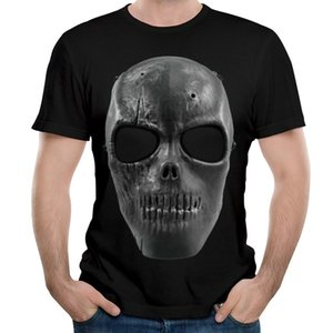 2017 Summer T-shirt Hip Hop Skull Print O-neck T-shirt Casual Tee Shirt S to Plus Size High Quality Tops cool Tees