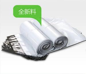 28 * 42 CM Blanc Poly Self-seal Mailbags Courrier En Plastique Destructif Poly Mailing Sacs En Plastique Express Mail Sac