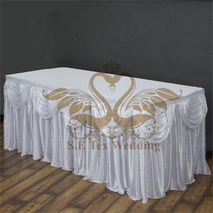 Sorseggiare White Ice Seta Tabella Gonna Wedding Table Zoccolino Size può scegliere