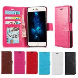 Para iPhone 12 11 PRO XS MAX XR caja del teléfono de la carpeta de PU Los casos con Cubiertas de caja de la foto del marco de la ranura de cuero para S10 S10 PLUS Nota 9 S9 PLUS Note20