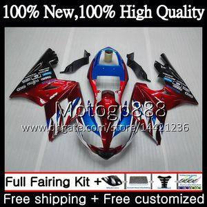 Corps bleu pour Triumph Daytona 600 03 05 650 03 04 05 Daytona600 6PG9 Daytona650 Daytona rouge foncé 650 600 2003 2004 2005 2005 Carrosserie