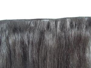 neu kommen brasilianische Hand gebunden glattes Haar einschlagMenschenHaarVerlängerungen nicht verarbeitete dunkelbraune Farbe