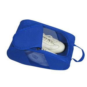 Travel Shoes Bag Travel Portable Shoes Tote Dry Shoes Organizer Underwear Clothes Laundry Case Pouch with Breathable Mesh