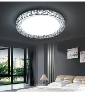 Soffitto moderna Luci LED Square e ciondolo nido rotondo portato luminarias para ciondolo in metallo Piazza luce # 11