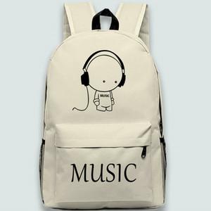 سماعة ظهر الصبي لطيف daypack الموسيقى العشاق المدرسية حقيبة مدرسية الكرتون حقيبة الظهر الرياضة في الهواء الطلق حزمة اليوم