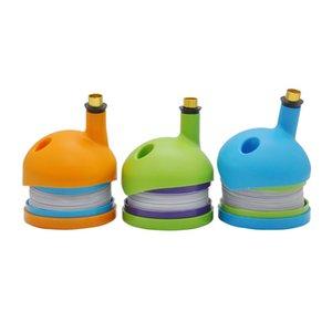De alta calidad Estiramiento de plástico portátil Caterpillar Shisha Stretch Smoking Mini Bong Oil Rigs percolator bubbler tuberías de agua DHL envío gratis