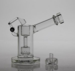 Bal Cam kubbeli cam mini bubber ile kuvars salıncak tırnak ve karbonhidrat kapağı sigara borular cam bongs Enjekte edilmiş lastik perc boruları ile Petrol Kuyuları