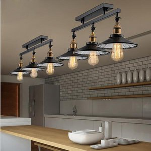 Anqitue led ceiling light vintage pendant lights loft industrial home lighting American countryside restaurant 3 heads chandelier