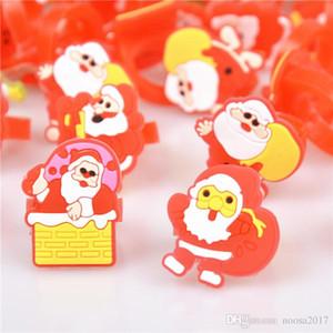 2017 горячие продажа детские кольцо Красный ПВХ рождественское кольцо украшения призы небольшие подарки перчатки Санта рождественская елка снежинки кольцо