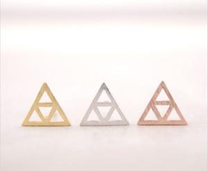 2016 yılında, üçgen üçgen kompozit içinde yeni moda kadınlar saplama küpe güzel küpe toptan ücretsiz kargo en iyi hediye