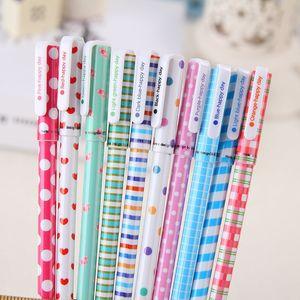 Милый мультфильм цвет гелевая ручка набор 10 цветов пополнения Kawaii корейский канцелярские творческий подарок школьные принадлежности Бесплатная доставка