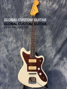 Deluxe guitarra Jaguar Eléctrica, captadores S-P90, Guitarra, cor branca, Todas as cores disponíveis, que mostra a foto real, frete grátis