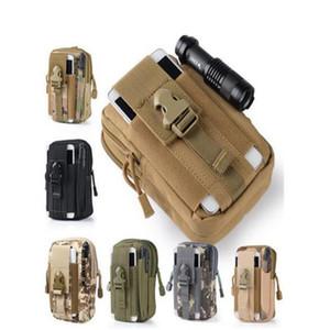Táctica de Molle EDC Utility Pouch Gadget cintura de la correa del bolso con cuero del teléfono celular de la caja deportes al aire libre del bolso del organizador