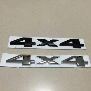 10 unids / lote 2 colores DSYCAR Plastic + aluminium 3D 4x4 Dislocación del coche pegatinas Logo Emblema Insignia Camión Auto Motor Car Styling Sticker Decal