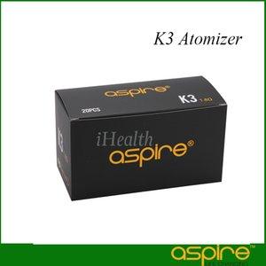 Aspire K3 Clearomizer 2.0ml Kapasite Değiştirilebilir 1.8ohm Nautilus BVC Bobin önceden yüklenmiş% 100 Orijinal