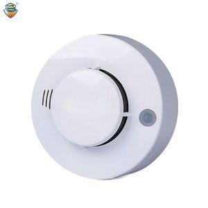 CE Fotoelektrik Duman Dedektörü Sensörü Kablolu Duman alarmı yangın alarmı Için Güvenlik Otomatik Arama Alarm Sistemi Ücretsiz Nakliye Için