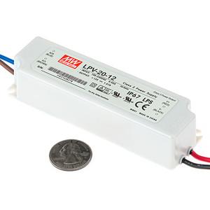 100% Оригинальный Новый 20 Вт светодиодный драйвер питания Meanwell LPV-20-24 IP67 водонепроницаемый блок питания 24 В для светодиодного света