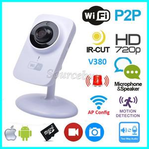 V380 Wifi Cámara IP inalámbrica HD 720P 1280 * 720 Seguridad P2P Monitor Visión nocturna Vigilancia CCTV Cámara inteligente Soporte TF Tarjeta Envío gratuito