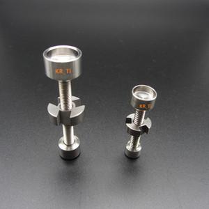 Venda quente barato e acessível a partir de KR_Ti GR2 14mm18mm titânio ajustável prego para bongo de vidro a partir de KR_Ti