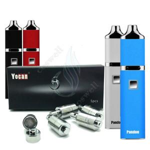 Аутентичные Yocan Pandon комплект четырехъядерных катушек двойной кварц катушки эволюционировать DQC воск Vape ручка травяные испарители напряжение регулируемый пар электронные сигареты