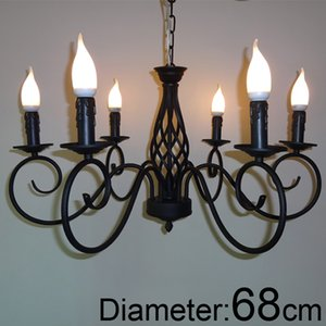 New store promotion For foyer dinning room 6 arm Modern vintages classic classical chandelier with black color or white color