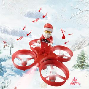 JJRC H67 Flying Santa Claus Mini RC Drone Elicottero 2.4G 4CH Colorato senza testa Mode Brick Brick Quadcopter Regalo di Natale per Kid