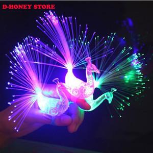 2017 venta Caliente luz Luminosa Colofrul Peacock Finger Light LED lámpara juguete niños novedad juguetes al por mayor envío gratis