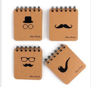 한국어 크리 에이 티브 미니 notepads kraft 종이 커버 notepads 남자 스타일 루스 리프 노트 blank paperTravel 저널 노트 books Christmasi Gift
