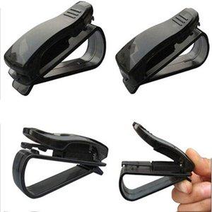 2 Unids / set Clips de ABS Portátiles Vehículo Vehículo Gafas de sol Gafas de sol Gafas Gafas Titular de la Boleta Clip de Cierre Automático CIA_501
