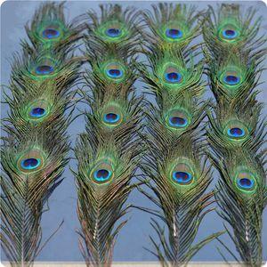 """Piume di pavone naturali in massa per il matrimonio di Natale decorazioni di Halloween in tutti Lunghezza 10 """"-12"""" coda Occhi Larghezza 4-6 cm 200pcs"""