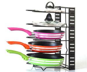 Bandeja Organizador Rack Estantes de gabinetes de almacenamiento de cocina Soporte de ollas para asar sartenes Tablero de corte de tapa, etc. Negro blanco