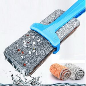 Household flat mop Easy to clean Using PP material durable plus Thick cloth design 360 degrees can be rotated