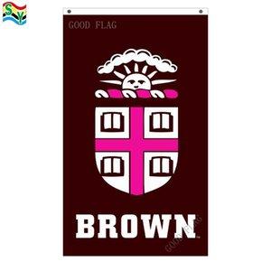 GoodFlag Бесплатная доставка коричневый флаг университета баннер 3X5 футов 90*150 см полиэстер открытый флаг