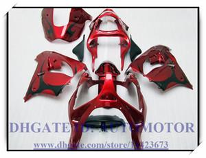 Высокое качество 100% новый обтекатель комплект подходит для Kawasaki ниндзя ZX9R 2000-2003 2001 2002 ниндзя ZX9R 00 01 02 03 #BG835 красный