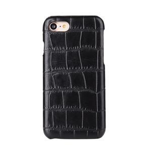 100 unids Venta Caliente de Moda de Fibra de Carbono de Madera Cocodrilo Serpiente de Cuero Caja de la PC Dura para el iphone 7 para samsung s7 Teléfono Móvil