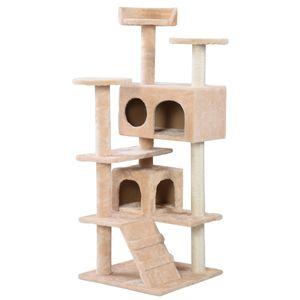 New Cat Tree Tower Condomínio Móveis Pet House Bege