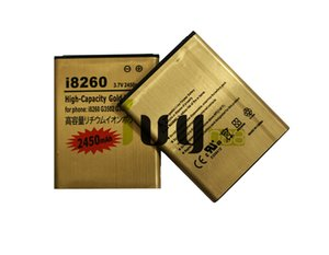 2pcs / lot 2450mAh Oro recargable Batería de repuesto para Samsung Galaxy i8260 Core G3502U G3502 G3508 G3509 I8268 i829 Batería Baterij