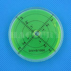 Haccury 66 * 10mm nível de bolha de nível de bolha de Alta Precisão frasco de Acessórios para o instrumento de medição Nível de bolha Circular Verde Vermelho