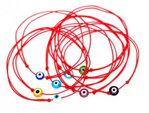 Free Ship 100pcs Red String Evil Eye Lucky Red Cord Bracelet réglable NOUVEAU